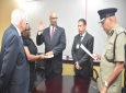 Robert Clarke is sworn in as a member of the TTPS
