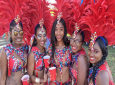 Revelers enjoying the adult parade at St Croix Crucian Christmas Festival