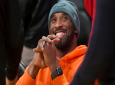 Former Los Angeles Laker Kobe Bryant attends an NBA basketball game between the Dallas Mavericks and Los Angeles Lakers Sunday, December 29, 2019, in Los Angeles. (AP Photo/Michael Owen Baker)