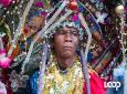 A masquerader in Haiti's Kanaval