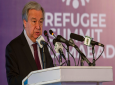 UN Secretary-General Antonio Guterres addresses the Refugee Summit in Islamabad, Pakistan, Monday, February 7, 2020. Guterres is on a three-day visit to meet with country's top leadership and attend an international conference to recognise 40 years of Afghans living as refugees. (AP Photo/B.K. Bangash)