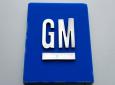 FILE - This January 27, 2020, file photo shows a General Motors logo at the General Motors Detroit-Hamtramck Assembly plant in Hamtramck, Michigan. (AP Photo/Paul Sancya, File)