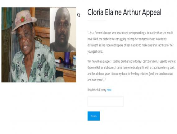 Appeal page on TicketLinkz for Elaine