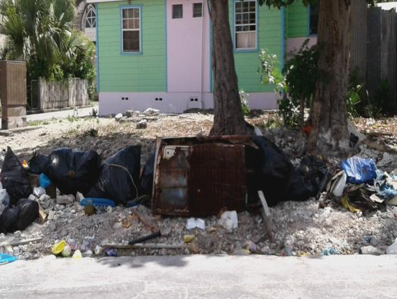 Dumping spot along Cypress Street in The City.