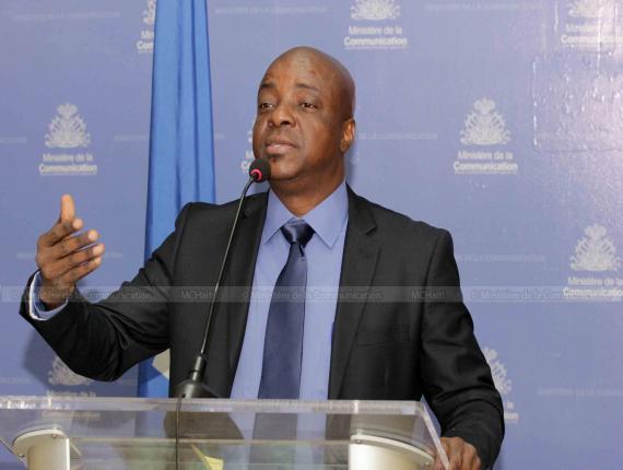 Le ministre de la culture et de la communication, Guyler C. Delva