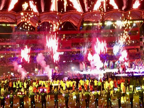 (Image: Commonwealth Games 2018 closing ceremony, in image by Kgbo via WikiCommons)