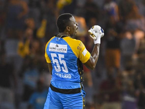 Kieron Pollard led the St Lucia Stars to their first win in the Hero CPL since 2016
