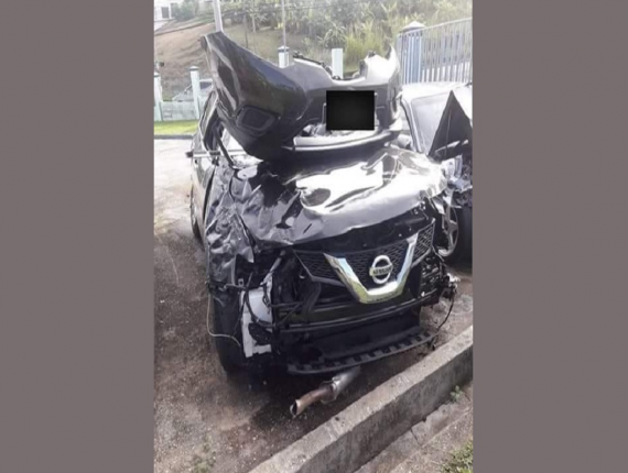 Photo: 36-year-old Kizzy Bango was killed after she was hit from behind by a car, which was thought to be racing with another on the Sir Solomon Hochoy Highway.
