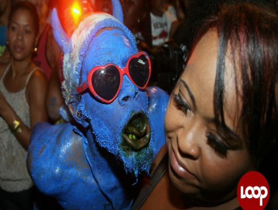 The Paramin Blue Devils are a major attraction on Carnival Monday. Photo: David Wearas