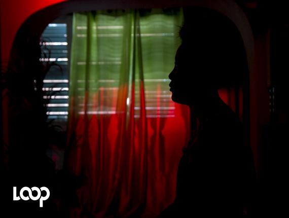 Cette photo a été prise dans le cadre d'une série intitulée #PaFeSilans, lancée par la rédaction de Loop Haiti en 2017, en partenariat avec des organisations féministes, pour dire non au harcèlement et aux agressions sexuelles.