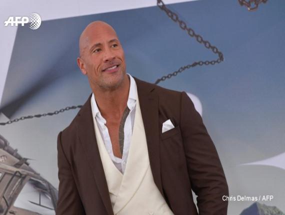 """L'acteur américain Dwayne Johnson lors de l'avant-première mondiale de """"Fast & Furious: Hobbs & Shaw"""", le 13 juillet 2019 en Californie ©Chris Delmas, AFP"""