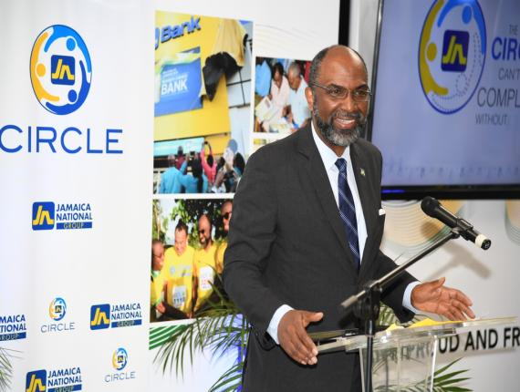 Earl Jarrett, CEO of The Jamaica National Group.