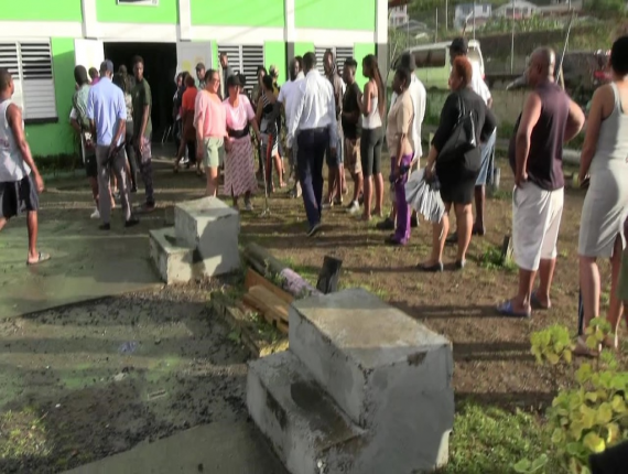 Voters from Linton voted at the Goodwill School this morning Dominica goes to the polls.