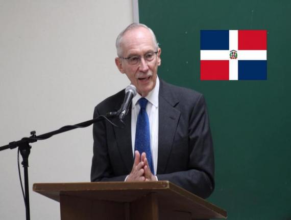 L'ancien chef de la Mission des Nations Unies pour la Stabilisation en Haïti (MINUSTAH), Edmond Mulet en République dominicaine.