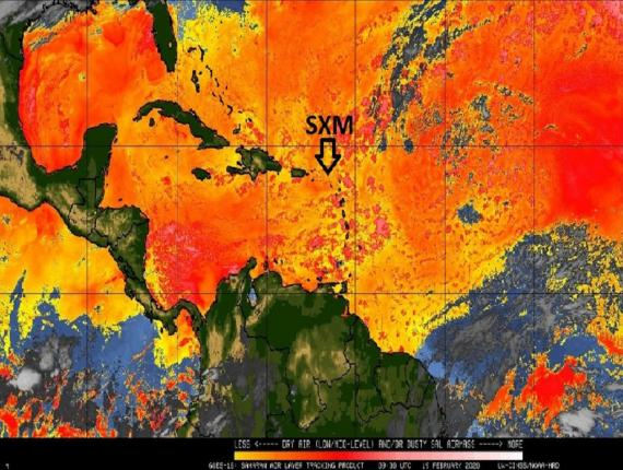 Photo via Meteorological Department of St Maarten, Facebook