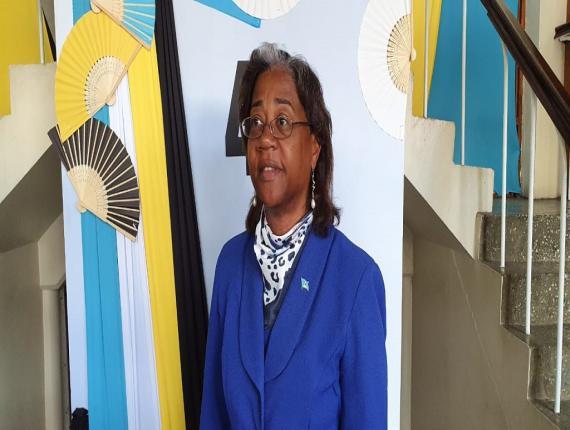 Health Minister Senator Mary Isaac