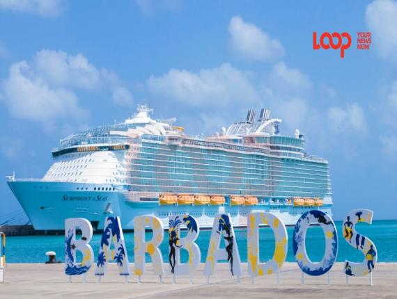 Symphony of the Seas in Barbados Port on July 8, 2020.