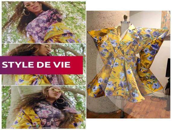 Beyoncé lookée par Venny Etienne dans Black is King/ Collage: Venny Etienne