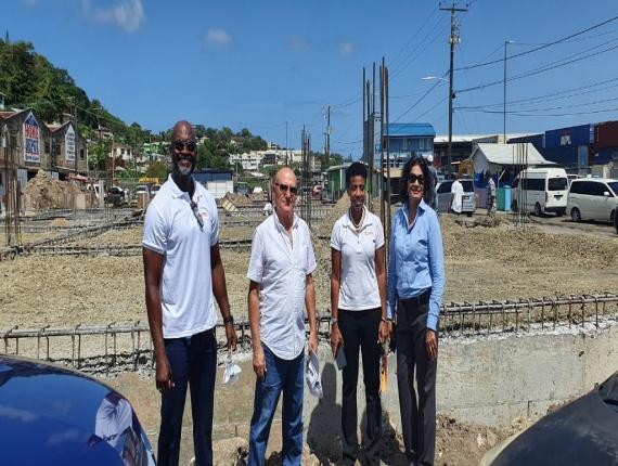 Martin Dorville, Managing Director of Massy Stores St Lucia; Maher Chreiki, Developer; Sariah Best-Joseph, Divisional Head: Marketing and Corporate Communications at Massy Stores; Zai Karim-mohammed, HWH developer