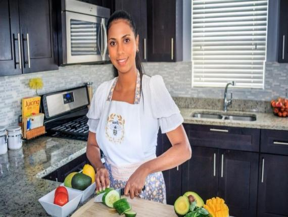 Caymanian owner of Grocery Nest, Angela Wood