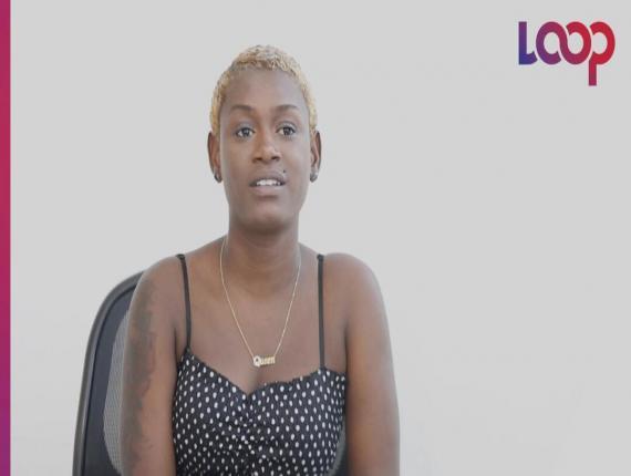 La jeune rappeuse Kemberlee, de son vrai nom Kemberly Pierre/ Photo et vidéo: Luckenson Jean