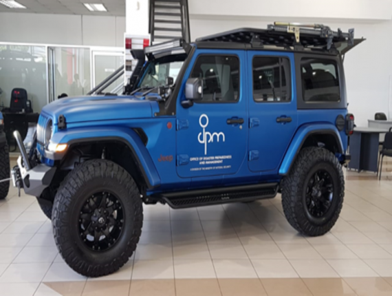 One of the Jeep Wranglers attained for the ODPM.