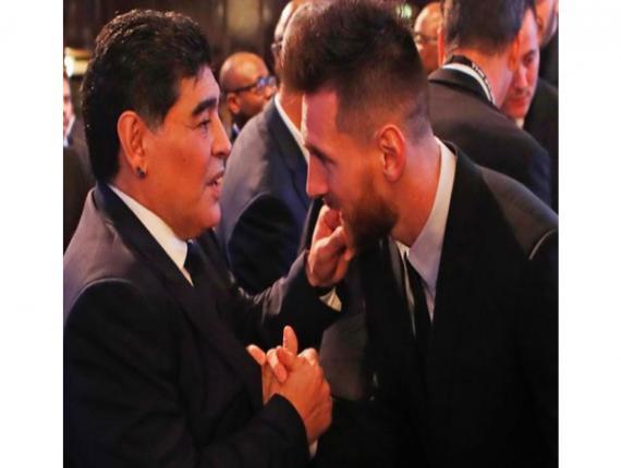 Diego Maradona and Lionel Messi (SOURCE: Leo Messi IG)