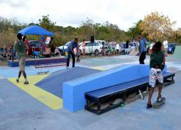 A fundraising skate competition being held at the recently demolished skate park.