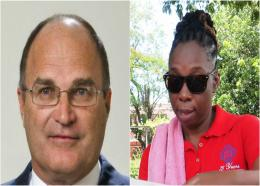 FILE - President of the Barbados Private Sector Association (BPSA), Charles Herbert, and General Secretary of the Barbados Workers' Union, Toni Moore.