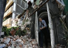 A powerful earthquake jolted central Mexico on Tuesday, causing buildings to sway sickeningly in the capital on the anniversary of a 1985 quake that did major damage. (AP Photo)