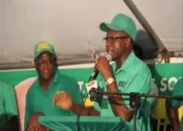 Everald Warmington speaks at a JLP meeting earlier this year.