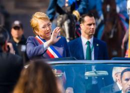 La presidente chilienne Michelle Bachelet./ Photo: © Getty / Agencia Makro/CON