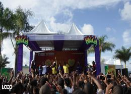 Denbigh High students are captivated by dancehall star Tifa's performance during the Bigga Socially Aware School Tour. (PHOTOS: Shawn Barnes)