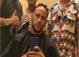 Neymar shows off a new hairstyle .         CREDIT: Instagram (Neymarjr)