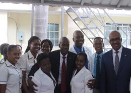 Le président Jovenel Moise entouré des cadres de Chitai