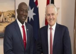 Prime Minister Dr Keith Rowley meets with Prime Minister of Australia Malcolm Turnbull.