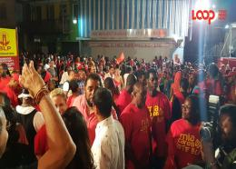 BLP supporters went to the headquarters in their numbers.