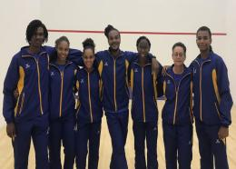 The Barbados Team at the  Opening Ceremony in Brazil.