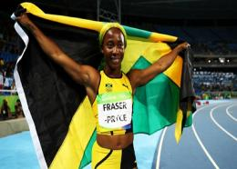 Double Olympic champion Shelly-Ann Fraser-Pryce