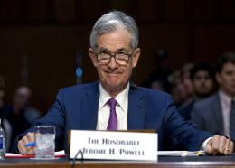 """Federal Reserve Board Chair Jerome Powell testifies before the Senate Committee on Banking, Housing, and Urban Affairs on """"The Semiannual Monetary Policy Report to the Congress,"""" at Capitol Hill in Washington. (AP Photo/Jose Luis Magana, FIle)"""