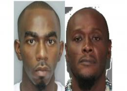 Rayon Andrew Boyce (L) and Shawn Sheldon Smith (R) are wanted by the Royal Barbados Police Force.
