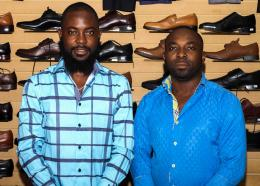 De gauche à droite, Skason Baptiste et Enaud Augustin, DG Krezi Store