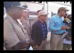 Photo caption: From left: SSP Anthony Morris; Commissioner of Police, Major General Antony Anderson; National Security Minister, Dr Horace Chang; and Prime Minister Andrew Holness.