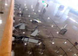 This photo taken in St Maarten after Hurricane Irma shows the damage sustained inside the airport terminal.