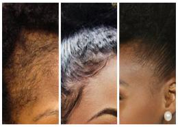 (L-R) Thinned edges, laid edges and tamed edges. (Internet images)