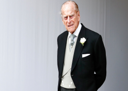 In this Friday, Oct. 12, 2018 file photo, Britain's Prince Philip waits for the bridal procession following the wedding of Princess Eugenie of York and Jack Brooksbank in St George's Chapel, Windsor Castle, near London, England. (AP Photo/Alastair Grant, file)