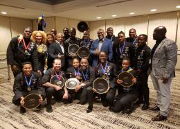 Members of the 2019 Barbados Culinary team after they collected their awards at Taste of the Caribbean in Miami, earlier this year.