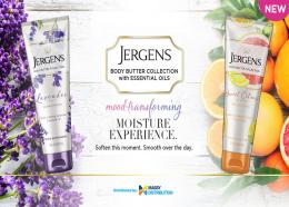 The new line of body butters from Jergens