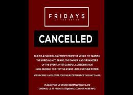 """Cancelled: Fridays at the Devon?"" (Photo: via Instagram)"