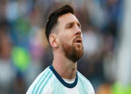 Lionel Messi in action for Argentina.
